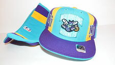 NEW HAT CAP FITTED REEBOK NBA NEW ORLEANS HORNETS SIZE 7 1/8 GREEN YELLOW PURPLE