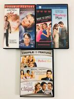 Lot of 7 Romantic Comedy Movies (DVD) - Perfect Man - Blind Date - Back-Up Plan