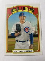 2021 Topps Heritage Baseball Anthony Rizzo Chicago Cubs Card #175