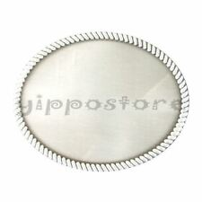 Blank Rope Vintage Classic Oval Western Metal Fashion Belt Buckle
