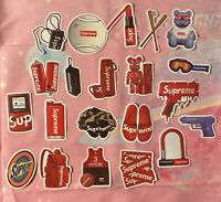 20ct Supreme Waterproof Sticker for Notebook Laptop Suitcase Skateboard