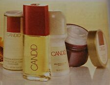 Avon Candid 4-Pc Gift Set Body Powder, Cologne, Roll-On, Skin Softener, New
