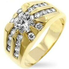 18K GOLD  MENS RISING SUN DRESS RING size 12 or Y other sizes available
