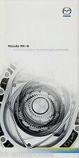 Prospetto MAZDA rx-8 dati tecnici 30.9.03 auto PROSPEKT 2003 brochure auto