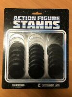 ACTION FIGURE STANDS BLACK 25 PACK 2 1/8 INCH ROUND DIAMETER FOR 3 3/4 3.75 FIGU