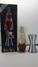 """17""""/ 32 oz  RED LAVA / CLEAR FLUID SILVERSTREAK Lava Motion Lamp #8610"""