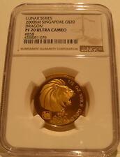 Singapore 2000 Gold 1/2 oz $20 NGC PF-70UC Year of Dragon