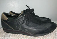 Mens Cole Haan Black Leather And Suede Lace Up Fashion Sneakers Shoes Sz 10 M