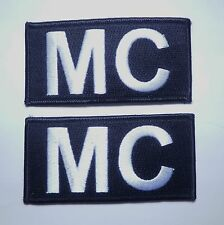 TWO MC  Motorcycle Club Jacket Vest  Biker Patches You Get 2!