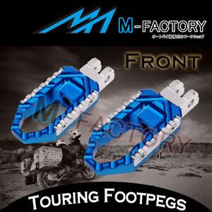 For Suzuki DL 650 V-Strom 04-12 13  Blue CNC Touring Front Rider Foot Pegs