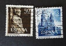 ESPAÑA-SPAIN-1954 edifil n.1130-31serie completa, usado.