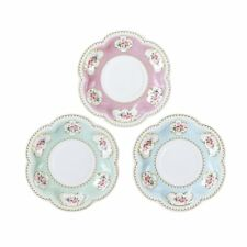 12 Luxury Vintage Style Afternoon Tea Party Paper Canape Mini Plates Shabby Chic