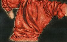 THE RED SHIRT Man Male Figure Clothing Cloth Original Pencil Comic Art Drawing