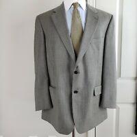 Brooks Brothers Mens Sport Coat Blazer Jacket Black Gray Houndstooth Wool 42R