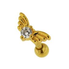 Jeweled Wings Heart Cartilage Helix Tragus Piercing Ear Stud body Jewelry