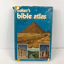 Baker's Bible Atlas Charles F Pfeiffer 1974 Hardcover Book