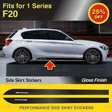 Für BMW F20 1er M Performance Seitenschweller Schweller Aufkleber Grafik GLANZ