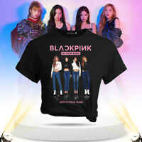 Kpop BLACKPINK in Ihrer Nähe World Tour T Shirt Signature Print Top YXX cRUWK