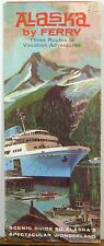 1970's Alaska Ferry Service brochure & map b