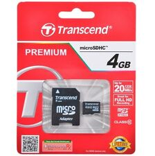 4gb Transcend micro SDHC Karte Class 10 mit Adapter TS4GUSDHC10 4GB microsdhc