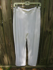 CHICO'S TRAVELERS Womens Slinky Wide Leg Pants Lined White  Regular 1 Small