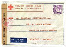 NED INDIE DUTCH INDIES 1940-12-5  RED CROSS-CENSOR PM-CHERIBON- TO SWITZERLAND
