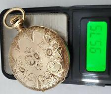 Solid Gold Runs 96 grams #49-7 Antique 16S Waltham Pocket Watch 14K