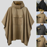 INCERUN Mens Waterproof Jacket Clear Raincoat Rain Coat Hooded Poncho Rainwear