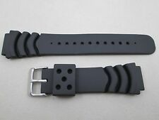 20mm lug wave vent dive polyurethane PU rubber watch band strap fits Seiko Z-20