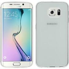 Coque en Silicone Samsung Galaxy S6 Edge transparent blanc