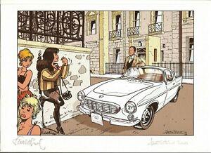 Walthéry / Stalner JM. Aston Martin. Ex-libris signé et num.