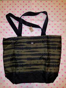 NWT Victoria's Secret PINK Limited Edition 2020 Black Olive Tote Bag