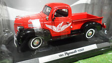 PLYMOUTH PICK UP COCA COLA 1941 Rouge 1/24 MOTOR CITY 438068 voiture miniature