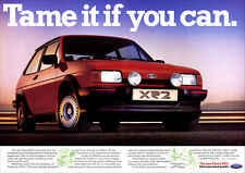 FORD FIESTA XR2 RETRO A3 POSTER PRINT FROM CLASSIC 80'S ADVERT