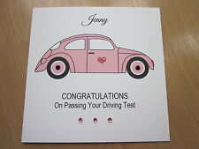 Personalised Handmade Congratulations on Passing Driving Test Card - Male Female