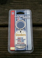 Pittsburgh Steelers Super Bowl NFL Keychain Dog Tag Sportagz Football Key Chain