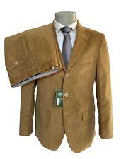 Abito uomo in Velluto DROP 6,color cammello su tessuto DUCA VISCONTI DI MODRONE.