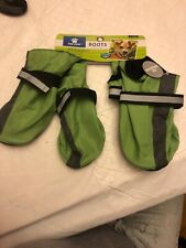 Top Paw Reflective Dog Boots. Size XL. Green