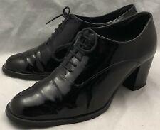 39 8 womens CARVELA KURT GEIGER Pam Pump Black Patent Leather Lace-up Booties