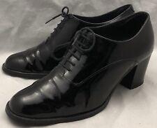 39 8 womens CARVELA KURT GEIGER Pam Pump Black Patent Leather Lace-up Booties
