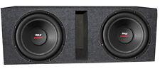 "2) Pyle PLPW10D 10"" 2000W Car Subwoofer Audio Subs DVC 4 Ohm + Ported Vented Box"