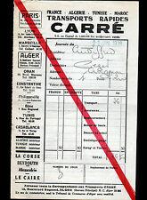 "ALGER (ALGERIE) Transport Maritime ""CARRE"" en 1938"