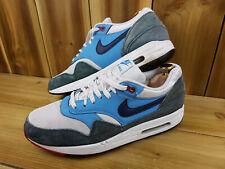 Nike Air Max 1 Essential blancas azul marino noche Para hombre Zapatillas UK 9 537383-119 Tren