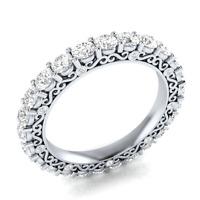 Round Cut White Sapphire Women 925 Silver Jewelry Elegant Wedding Ring Size 6-10