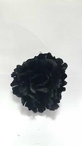 Large 14cm Black Hair Poppy Fascinator Clip