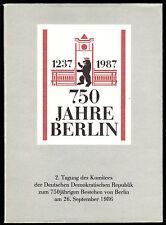 750 Jahre Berlin - 2. Tagung des DDR-Vorbereitungskomitees, 1986