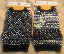 Boots & Barkley Dog Sweaters Small Set Of 2 Black White NEW
