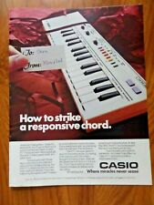 1984 Casio Keyboard Ad  Casio PT-1 Keyboard