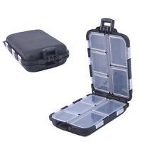 10Fishing Lure Compartments Storage Case Box Plastic Fish Lure Bait Tackle Bo I2