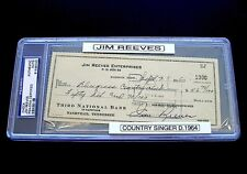 Autograph 1960 Jim Reeves PSA/DNA Check Signed Dated September 7 Rare DS 10 VTG